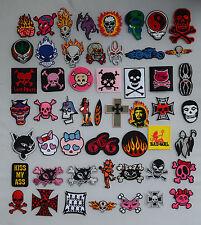 SKULL IRON ON PATCHES patch skulls devil biker punk goth emo jacket metal satan