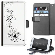 Hairyworm Music Notes Dandelion Flower PU Leather Wallet Flip Phone Case, Cover