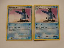 Carte Pokemon Prinplouf 80 pv Platine  x 2 !!!
