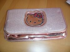 Sanrio Hello Kitty pink shiny sequin clutch purse bag   7  1/4 by 12 inches  NEW