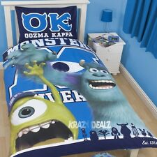 Disney Monsters University Inc Single Panel Duvet Cover Bed Set Mike Sully Gift