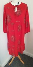 NEXT Red Patterned Maternity Summer Gypsy/Boho Dress Size 10 BNWT RRP £35