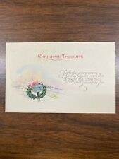 Lot Of 4 Vintage Merry Christmas Postcard, Flowers And Christmas Trees., Birds
