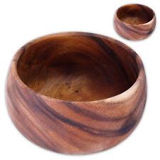 Bandeja de madera set dos ACACIA Ensaladera cáscaras nuez merienda Edad Media Ø