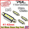 4 SMD Festoon Canbus 44mm 42mm SV8,5 C10W 264 LED Canbus interior Car Bulb White