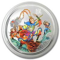 Perth Mint Australia Coloured Monkey King 2016 1 oz .999 Silver Bullion Coin