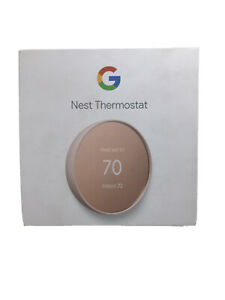 Google Nest Thermostat Programmable Smart Wi-Fi for Home (Sand)- GA02082-US