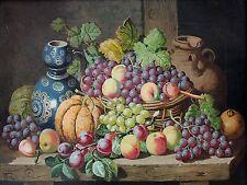 Fruit grapes peaches pumpkin Accent Tile Mural Kitchen Backsplash Ceramic 8x6