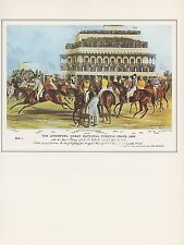 "1974 Vintage HORSE RACE ""LIVERPOOL GRAND NATIONAL STEEPLE CHASE"" Art Lithograph"