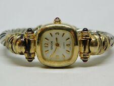 """Gruen GR7727 Cuff Bracelet Two Tone Quartz Analog Ladies Watch Sz. 6"""""""
