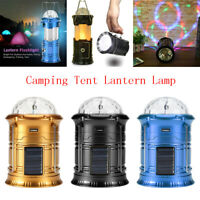 Solar Power LED Lantern Outdoor Camping Flashlight 1600mAh Tent Torch Lamp Flame
