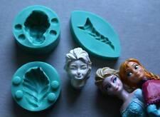 Silicone Mould 3D ELSA'S HEAD Sugarcraft Cake Decorating fondant fimo mold