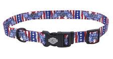 Harley-Davidson Patriotic Red, White, & Blue Adjustable Dog Collar H6420 H HD212