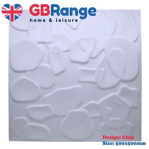 3D Wall Panel Natural Bamboo Fibre Chip Design 500x500mm Panels Featured Wall