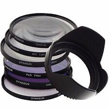 Set 77mm UV Filter DynaSun 77 + CPL +SKY +Close Up +4 Star +Fluorescent +Tulip