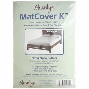 Shantys King Size Plastic Matress cover and two pillow cases