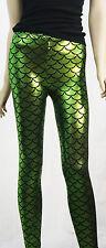 Metallic Mermaid Legging Costume Cosplay Fish Scale 6 Colors Skinny Stretch Pant