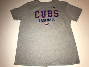Nike Team Chicago Cubs Baseball Grey T Shirt Men's Size XXL MLB NWOT!