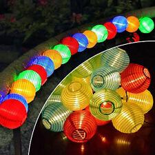 30 LED Lantern Fairy Lights String Garden Path Solar Power Lantern Home Decor