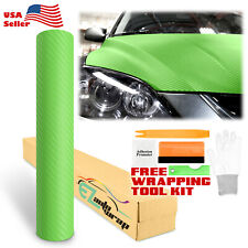 3d Carbon Fiber Green Texture Matte Vinyl Car Wrap Sticker Decal Film Sheet Diy