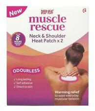 Deep Heat Muscle Rescue Neck & Shoulder Heat Patch Relax Tense Stiff Aching 1, 2