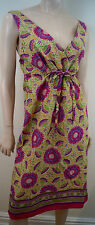 MAXMARA WEEKEND Multi Colour 100% Cotton Floral Print Sleeveless Summer Dress 12