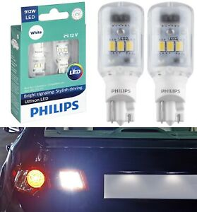 Philips Ultinon LED Light 912 White 6000K Two Bulbs Back Up Reverse Stock Lamp
