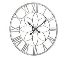 Uhr, Wanduhr heinehome silberfarben Skelettuhr Ø 80 cm  010211