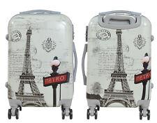 Maleta pequeña cabina rígida fantasia Eiffel metro 4 ruedas dobles equipaje mano