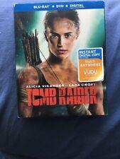 Tomb Raider (Blu-Ray/DVD, 2018, 2-Disc Set) No Digital Code