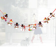 Christmas Party Decorations Hanging Ornaments Snowman Banner DIY Xmas Decor