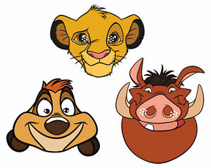 The Lion King Masks - Official Disney 2D Party Mask 3 Pack - Simba Timon Pumbaa