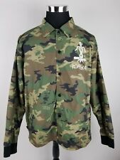 Mishka Skull Camo Stonehenge Easter Island Graphic Size L Nylon Light Jacket D15