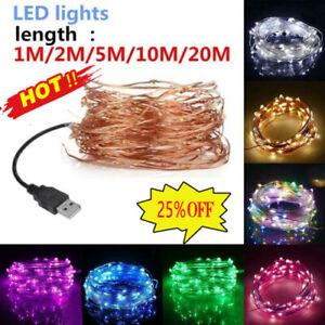 USB LED String Lights Outdoor Waterproof Fairy Garland Lamp Decor Lighting Nice