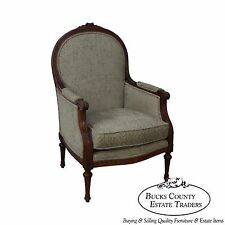 Thomasville French Louis XVI Style Bergere Living Room Chair
