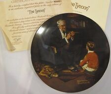 The Tycoon Collector Plate Norman Rockwell 6th Issue In The Heritage Collection