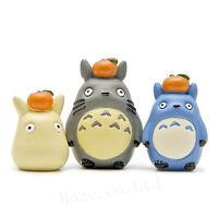 3pcs/Set Studio Ghibli My Neighbor Totoro Resin Figure Model Toy
