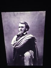 """Nadar """"Gustave Dore 1855"""" Early French Photography Art 35mm Glass Slide"""
