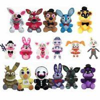 "FNAF Five Nights at Freddy's Plushie Toy 7"" Plush Bear Foxy Bonnie Chica Gift PB"