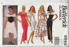 Bridal Party Dress Hi Low Skirt Variation Butterick Pattern 6645 Uncut Size 6-12