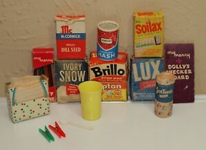 Vintage MY MERRY Loose Mixed Lot for DOLLY Supermarket & Hostess Closet Items