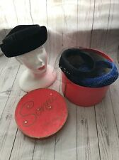 Vintage 1950's Cocktail Pillbox Evening Hats Lot of 6