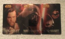 WalMart Set of 3 Star Wars Clone Wars Movie Foiled Gift Cards 2006 Sith Obi Wan