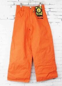 New Volcom Boys Youth Five Snowboard Pants Small Orange