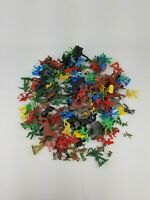 Mixed Large Lot Of Plastic Cowboys, Indians, Horses, Soldiers Toy Mini Figures