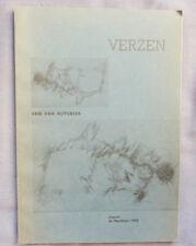 ERIK VAN RUYSBEEK VERZEN  DE MERIDIAAN 1955  150 ex 1/26 Q   envoi de l'auteur