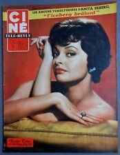 ►CINE REVUE 15/1959-NADJA TILLER-ANITA EKBERG-ANTHONY STEEL-DEBBIE REYNOLDS...