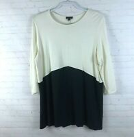J.Jill Wearever Collection Women Size L Colorblock 3/4 Sleeve Knit Top Tunic