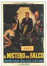 MALTESE  FALCON  POSTER- ITALIAN B- G, Di STEFANO - UNIQUE  AT EBAY- ONLY  $4.99
