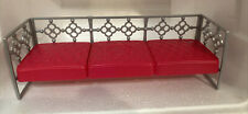 New ListingMattel Barbie Furniture Pink / Gray Silver My Style Glam Daybed, Couch Sofa 2014